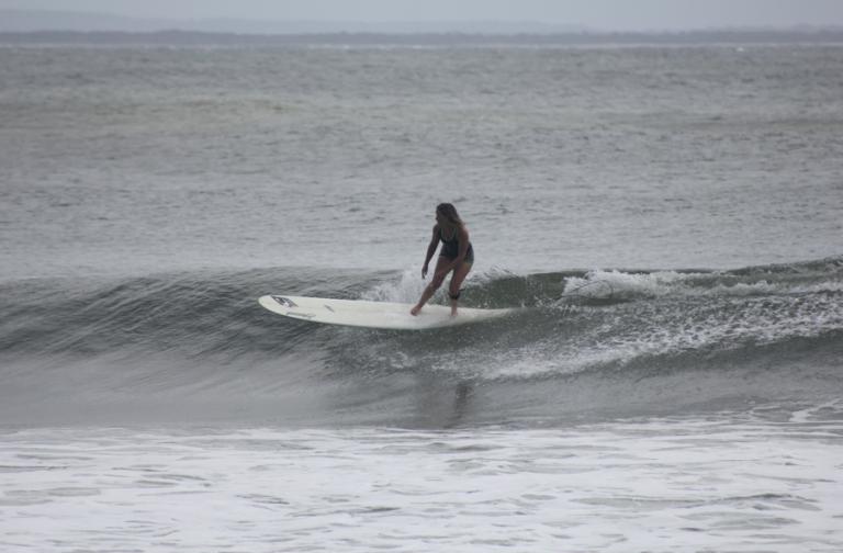 Surfing at Tea Tree Noosa - Ashleigh Bennetts
